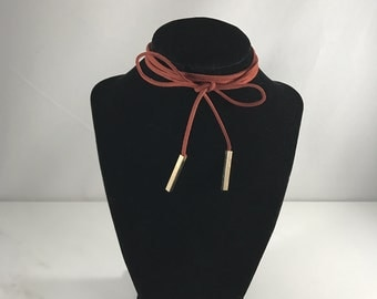 Faux Leather ( Vegan ) Choker / Necklace