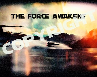 Star Wars The Force Awakens  X- Wing Poster