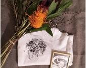 Flora #1: hand screenprinted Tshirt