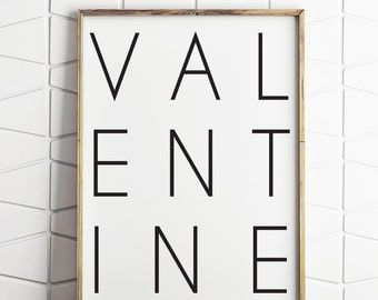 valentine wall art, valentines day print, valentines printable, instant download, valentines wall print, valentine decor gift