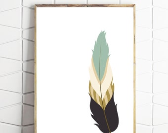 feather wall art, feather wall decor, feather instant art, feather printable decor, feather download, feather decor, feather wall print