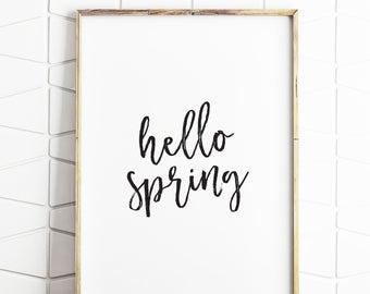 spring decor, spring print, spring digital art, spring hello art, spring modern art, spring download, spring poster, spring art