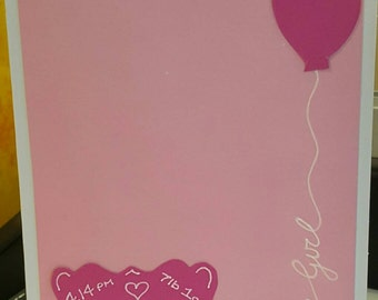 Special Personalised Baby Girl Gift Card