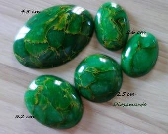 Polymer imitation jade cabochon