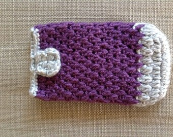 Purple and Grey Handmade Phone Cover