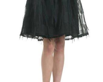 Fuzzy patchwork midi skirt