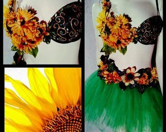 Sunflower Rave Outfit