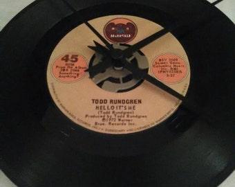 Todd Rundgren 45 Record Clock - Hello It's Me