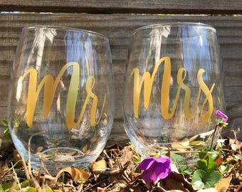 Wedding wine glasses, engagement gifts, engagement gift for couples, gift for couples, wedding gift, bridal shower gifts, gift for bride