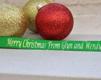 15mm Personalised Christmas Ribbon, Gift Wrap, Christmas Wrapping, Craft Supplies, Accessories, Etsy Shop Supplies