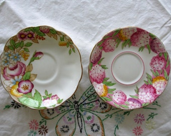 Pair of Vintage Tea Saucers