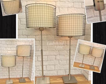 Urban Chic Lamps, Industrial Lighting, Industrial Style Lamps, Adjustable Lamps, Bedside Lights, Bedside Lamps, Wire Cage Lamps,