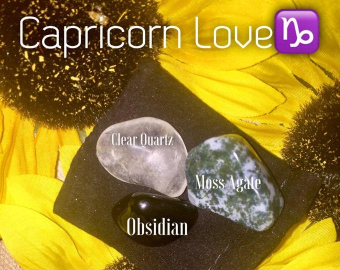 Capricorn Love ~ Capricorn Season Crystal Set