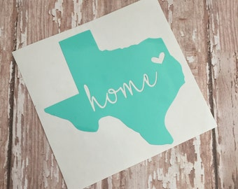 Vinyl decal, tumbler decal, yeti decal, state decal, vinyl sticker, customized decal, texas decal, personalized decal, home decal, womens