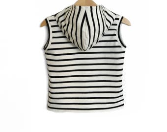 Hooded T-Shirt striped sailor