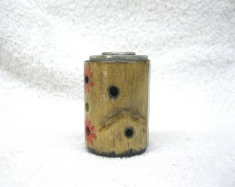 """Birch Wood Chime Candle Holder for Mini Taper, Spell or Ritual Candles 4"""" Tall x 1/2"""" Diameter"""