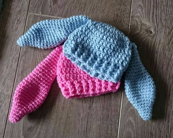 Baby bunny ear hat bunny ear beanie 0-3 months 3-6 months 6-9 months cute baby accessories baby blue pink easter bunny winter hat photo prop