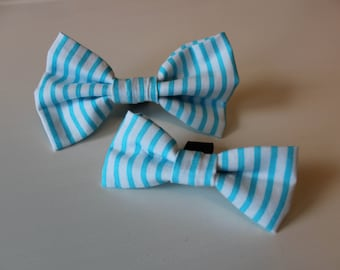 Cyan Dog Bow Tie