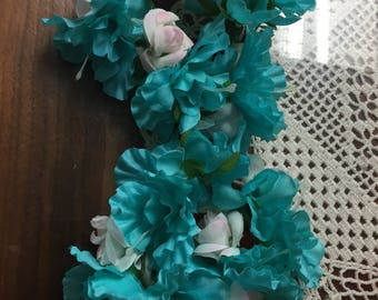 Small candle rings  5 inches across for candle sticks  teal really beautiful