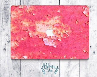 Pink sticker MacBook pro Skin for MacBook pro 13 MacBook pro Abstract skin old rusty wall pattern MacBook peel and stick decal cover BS028