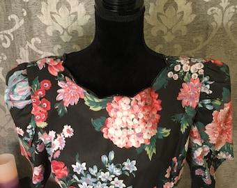 Vintage Floral Garden Dress-Girls 12