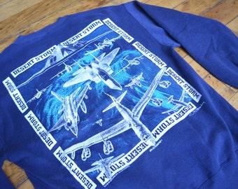 Vintage 1991 Operation Desert Storm Military Crewneck Sweatshirt