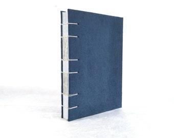 A5 handbound Coptic stitch notebook (15x21 cm) quaderno rilegato a mano