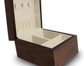 Ikee Design Premium Wooden Jewelry Box Organizer Storage for Necklace, Bracelet, Earrings, Rings (SKU# BXJ1465)