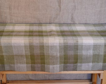 Hand-woven linen tablecloth
