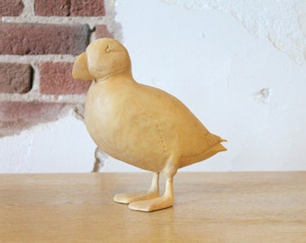 Handcarved Wooden Puffin