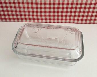 Retro Arcoroc Cow Butter Dish w/ Lid