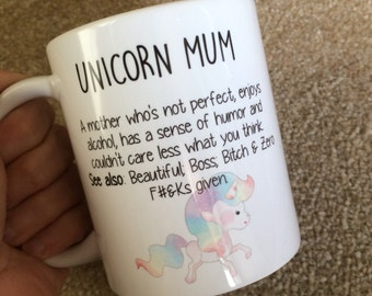 Unicorn Mum mug / birthday gift / unicorn fan / custom mug / 11oz mug / Mum gift / Unicorn mug