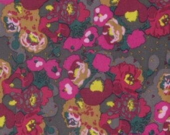 Peonies in Bright - Anna Maria Horner Mod Corsage - cotton fabric