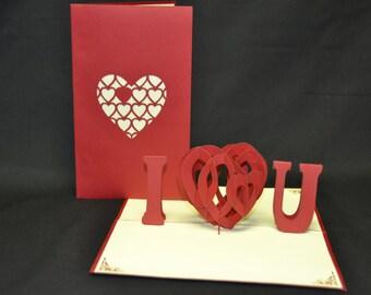 3-D Love Pop-Up Card