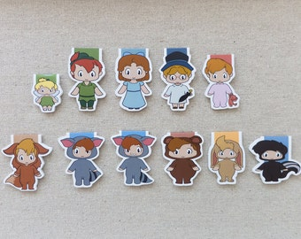 Magnetic Bookmarks - Neverland Friends