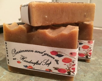 Persimmon and green tea Soap