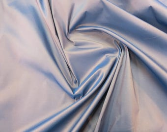 Iridescent Steel Blue Taffeta