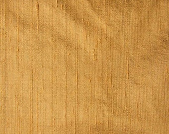 Gold Dupion Raw Silk Fabric