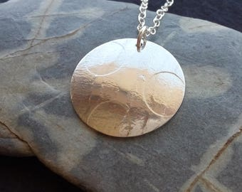 Round Sterling Silver Necklace