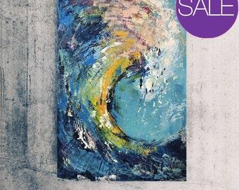 Print on Canvas, Giclée print, Modern art, Abstract Art, large wall art, Ocean, Waves, Surf art, Abstract art - Wall art, Canvas Print, blue