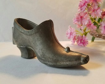 Ice Cream Mold – Pewter - Vintage Lady's  Shoe Candy, Chocolate, Craft Mold - c. 1900