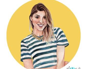 Digital Portrait Illustration, Custom illustration, Custom portrait from photo, portrait, Digital Download