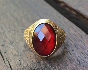 14K Solid Gold Signet Ring, Engraved Signet Ring, Custom Signet Ring, Custom Signet Ring, Oval Signet Ring, Gold Signet Ring, Floral Ring