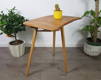 Ercol Plank Table Extension Retro 60s 70s Elm Dining - Professionally Refinished