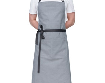 Light Gray Chef's Kitchen Apron - Tall