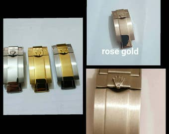 Rolex clasp Solid stainless steel deployment clasp for rolex watch strap.