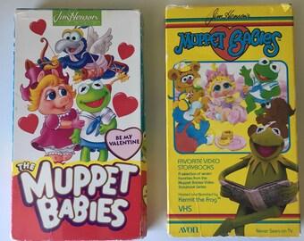 The Muppets VHS tapes Muppet Babies Dinosaurs Sesame Street Jim Henson