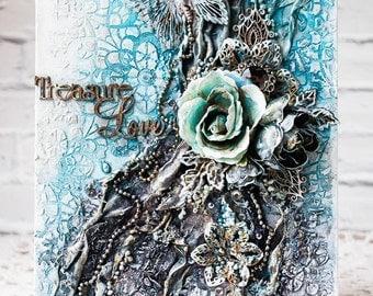 Mixed Media wall decor - Treasure Love