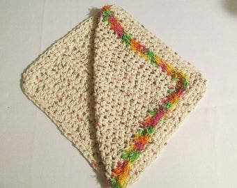 Kitchen Dish Cloth and a Scrubby Dish Cloth