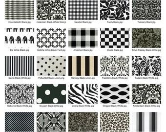 Premier Prints Black & White Fabric Remnants/Scrap Packs - Free Shipping